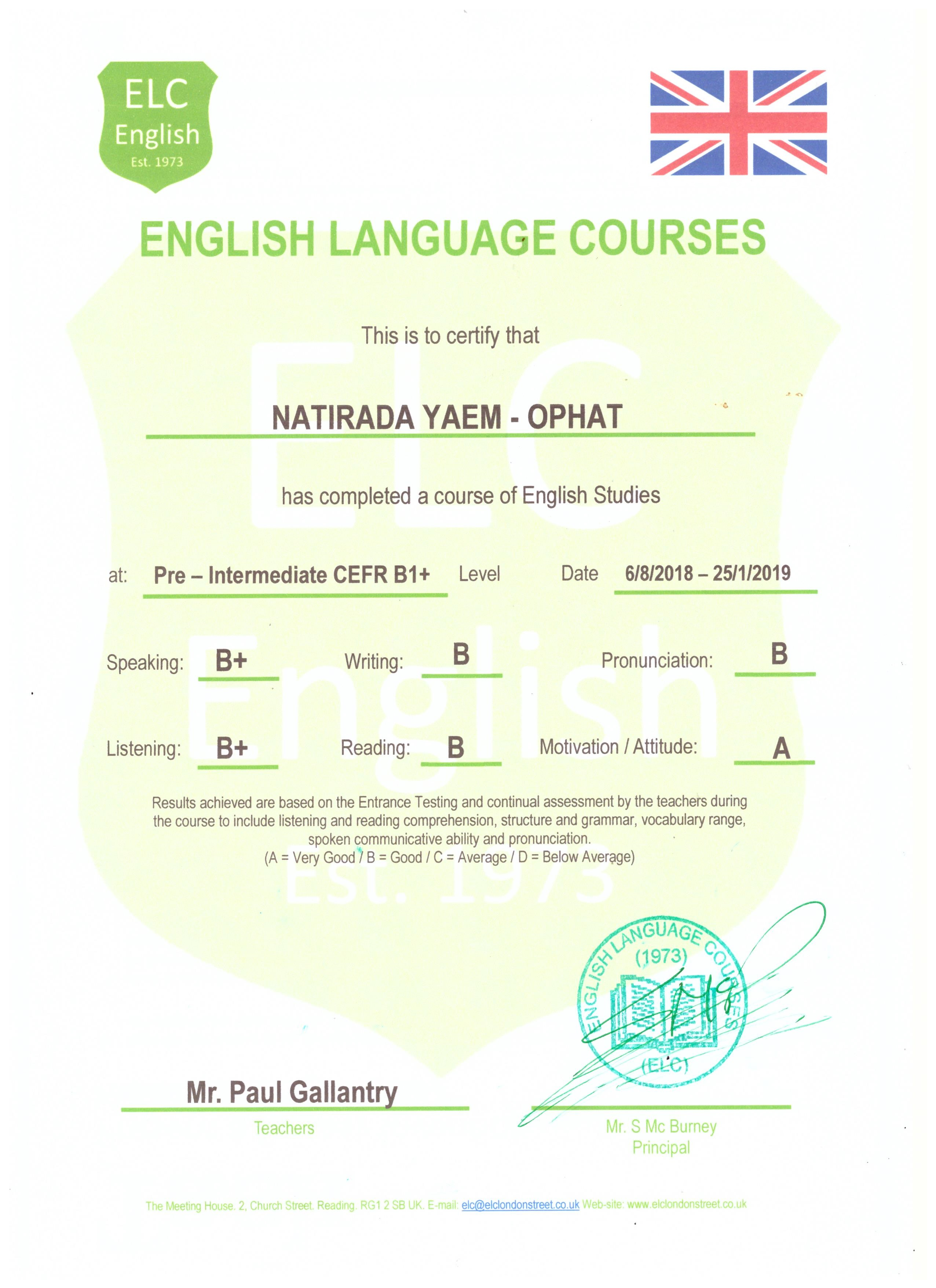 English Language Courses in Reading